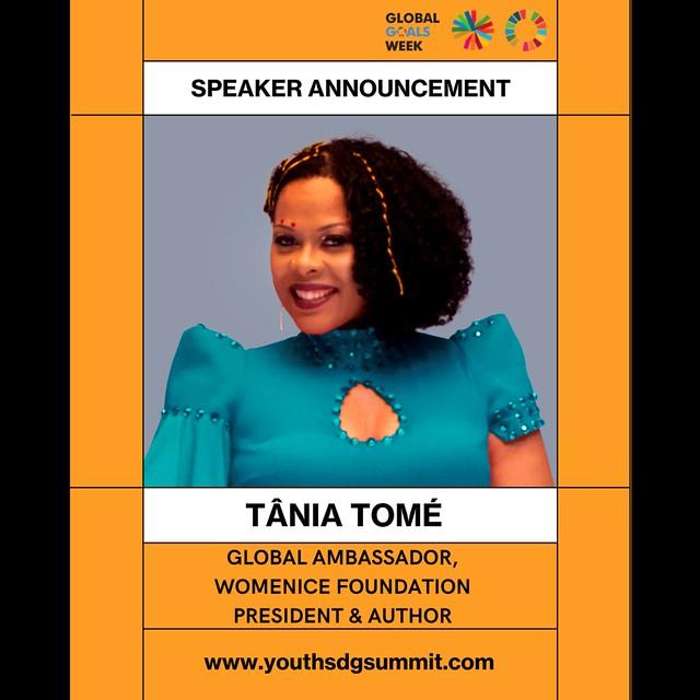 Global Ambassador Tania Tome speaker  Youth SDG Summit 2021