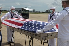 U.S. service members assigned to the Defense POW/MIA Accounting Agency (DPAA) and the U.S. Embassy participate in a repatriation ceremony.