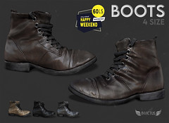 INVICTUS - BOOTS L$ 60  HAPPY WEEKEND