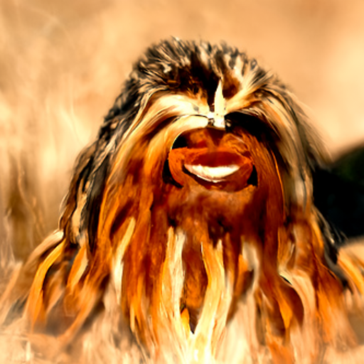 'a digital rendering of Chewbacca' CLIP Guided Diffusion v5 Text-to-Image