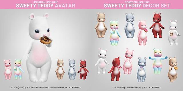 SEmotion Libellune Sweety Teddy Avatar & DecorSet