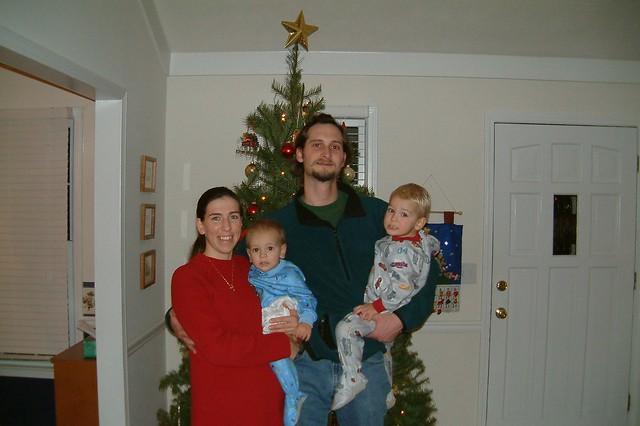 Christmas 2003 (baby bump is Sarah)