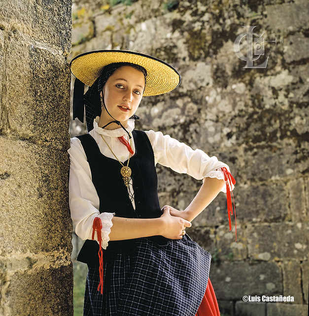 Galician Girl in traditional clothes.