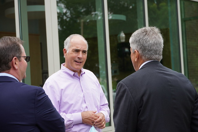 Senator Bob Casey Tours Wilkes and Visits Political Science Class