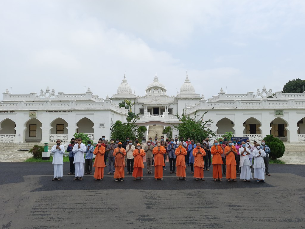 Special Prayer at RKM Vidyapith, Deoghar - COVID (1)
