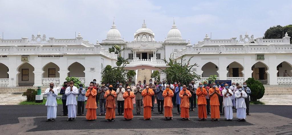 Special Prayer at RKM Vidyapith, Deoghar - COVID (2)