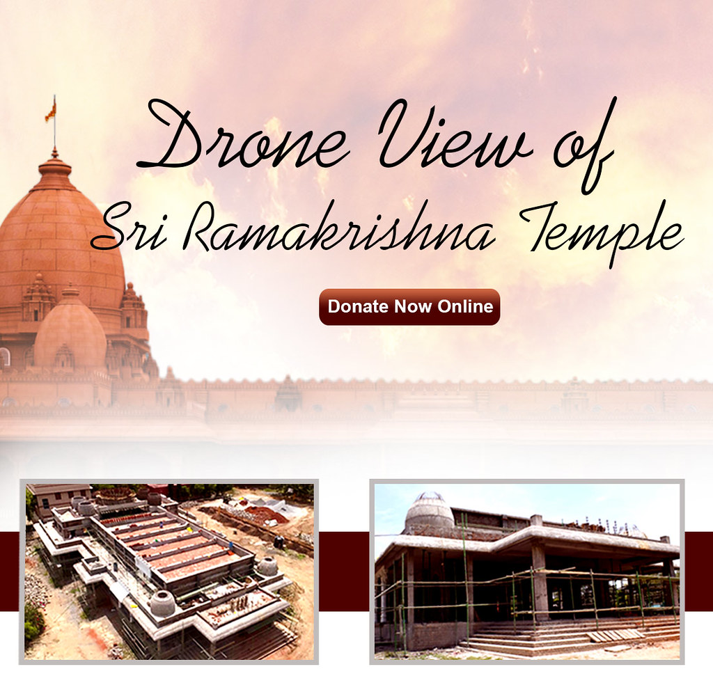Drone View of  Sri Ramakrishna Temple ||  Temple Construction under progress ||