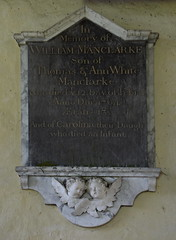 William Manclarke son of Thomas & Ann White Manclarke who died ye 12 day of Februa Anno Dni 1764 aged 13 and of Carolina their daughter who died an infant