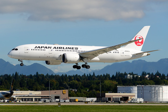 CYVR - Japan Airlines B787-8 Dreamliner JA840J