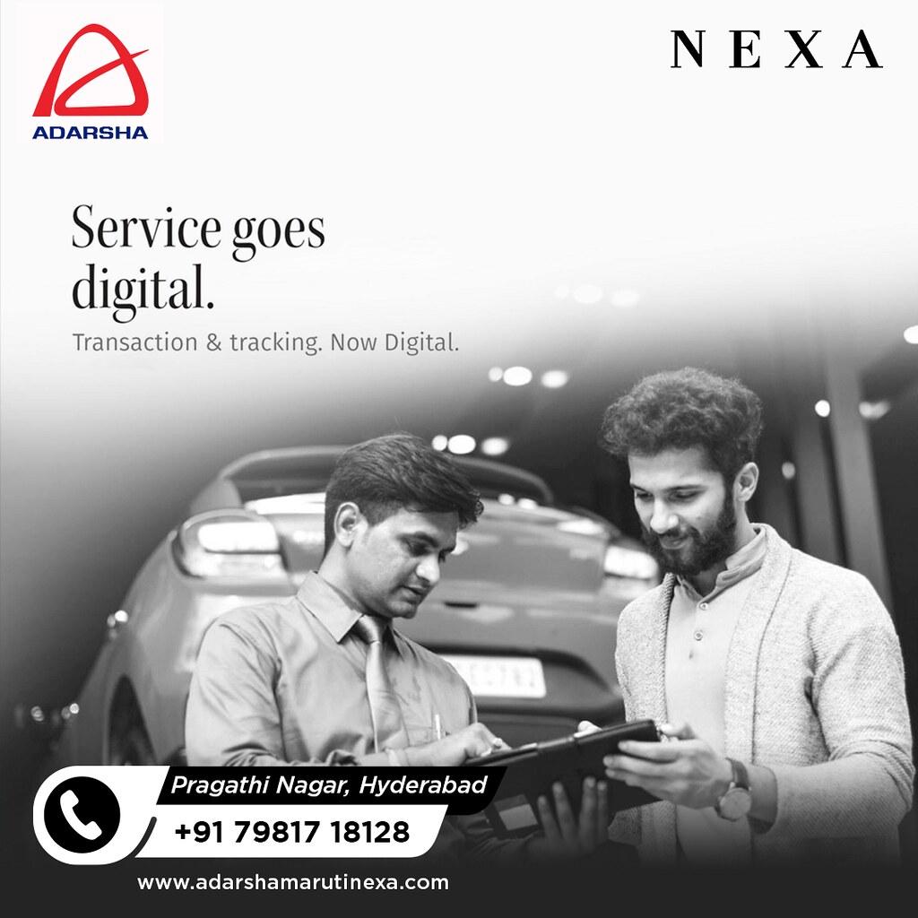 Services goes Digital at Adarsha Nexa Showroom Hyderabad - Nexa Showroom in Pragathi Nagar