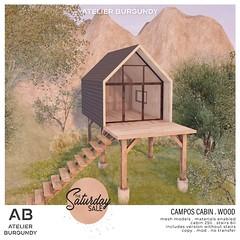 Atelier Burgundy . Campos Cabin Wood TSS