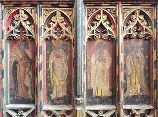 screen (north): St Mark, St Augustine, St John, St Gregory
