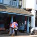 Red & Blue Umbrella - Luang Prabang Laos