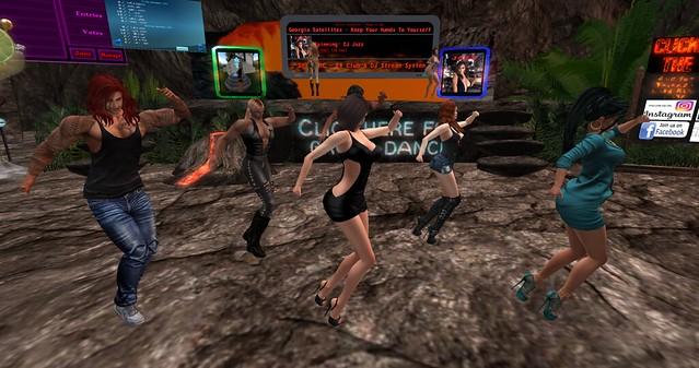 Group Dancers on a VRC TGIF