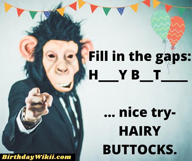 Buttocks Monkey