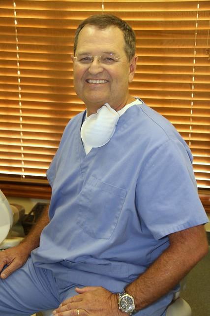 Dr. Jim Phillips in scrubs.