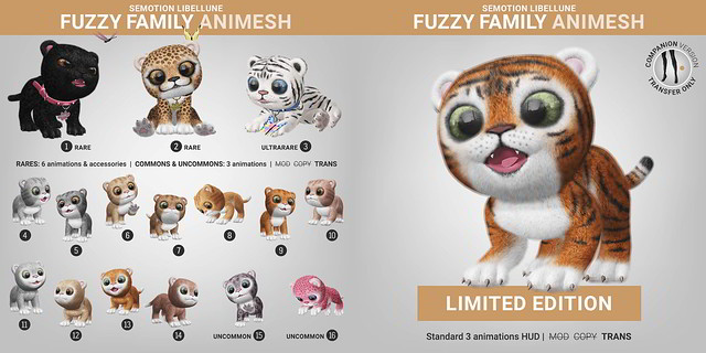 SEmotion Libellune Fuzzy Family Animesh