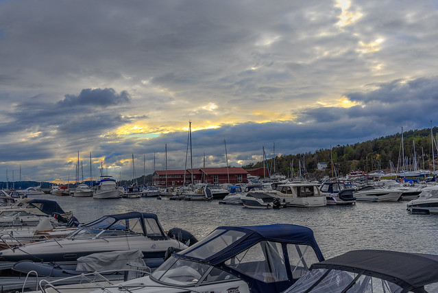 Early evening in the marina, Son, Norway