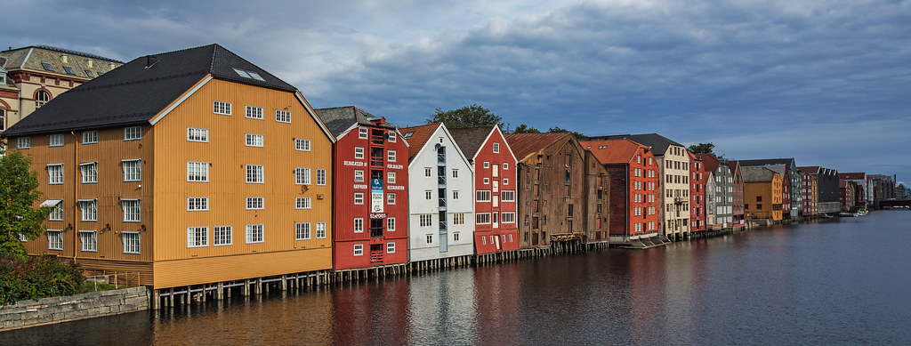 Alte Lagerhäuser in Trondheim