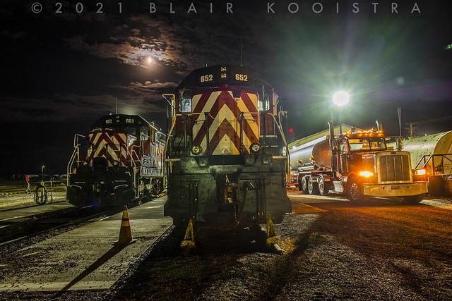 Refueling the power on Columbia Basin Railway, Warden, WA