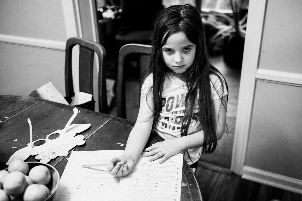 256/365: NO PICTURES WHILE I'M DOING MATH, DAD!