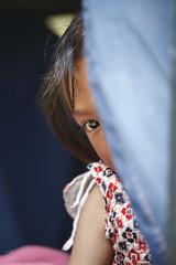 A shy peek