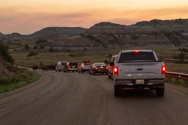 Traffic Jam in North Dakota