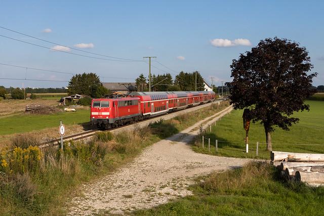 DB 111 076 in Wiedergeltingen