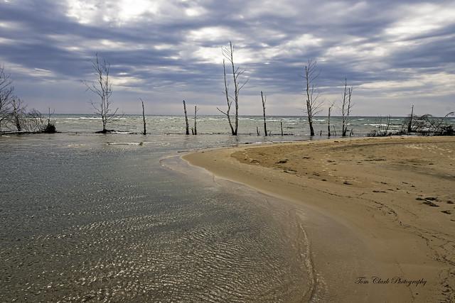 Lake Huron shoreline at Tawas Point, Michigan