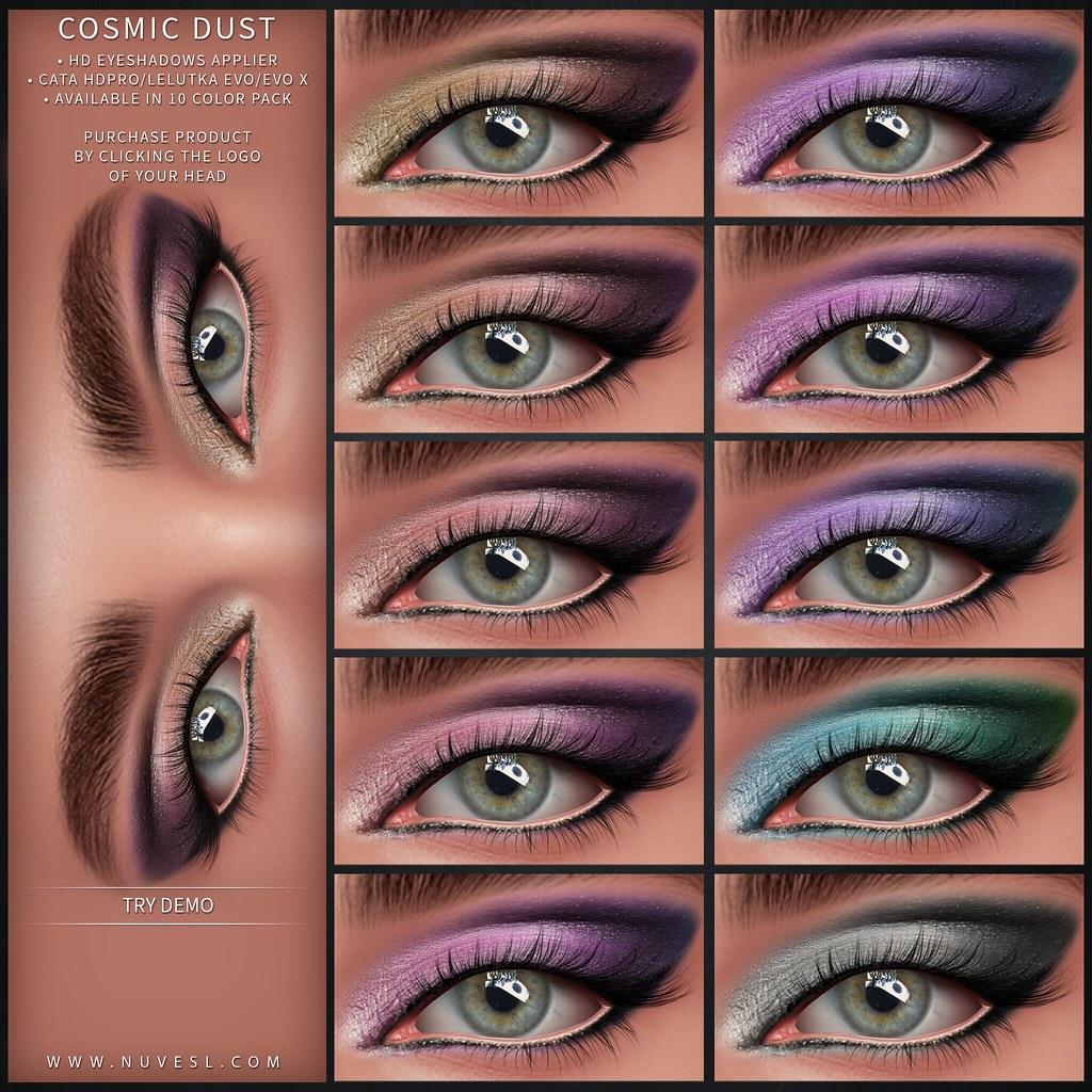 Cosmic dust eyeshadows – Catwa HDPRO/Lelutka Evo Classic + Evo X