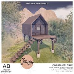 Atelier Burgundy . Campos Cabin BlackTSS