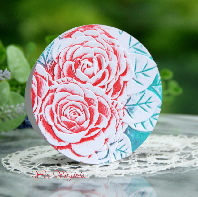 Frilly Peonies 3D Embossing Folder