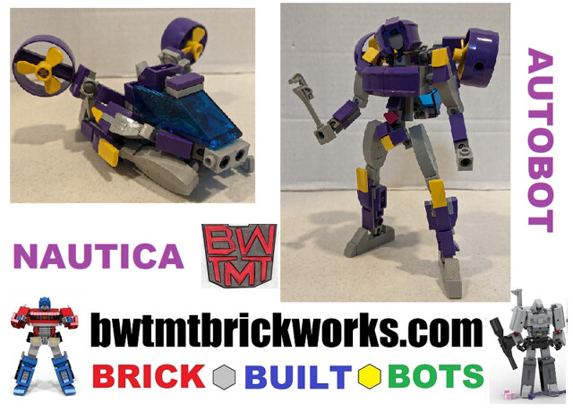 Lego Transformers NAUTICA  by BWTMT Brickworks Brick Built Bots