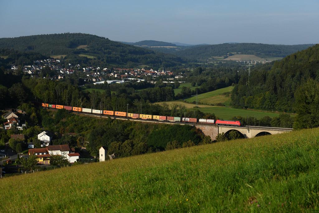 DB 152 115 Jossa, nördl. Viadukt 08.09.2021