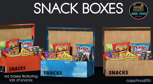 Junk Food - Snack Boxes Ad