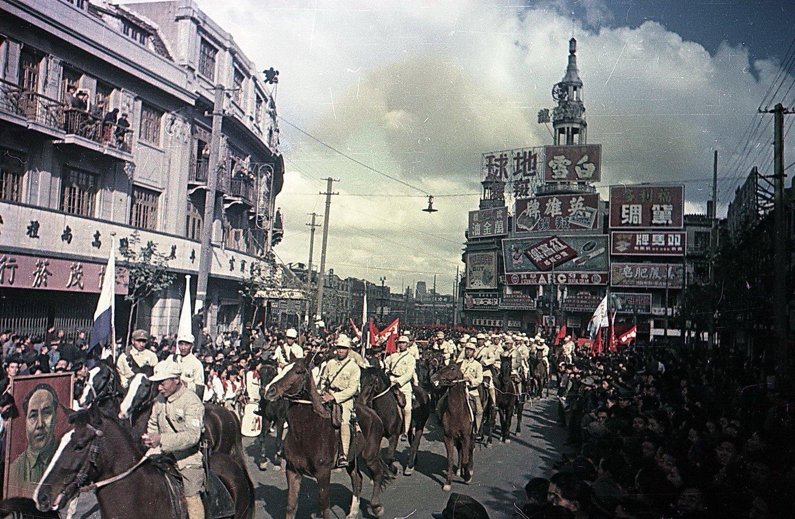 1949. Шанхай. Встреча войск Народно-освободительной армии Китая