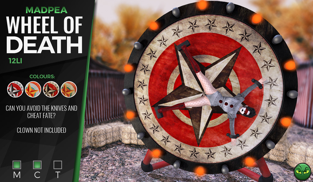MADPEA'S WHEEL OF DEATH @ Man Cave *GIVEAWAY*