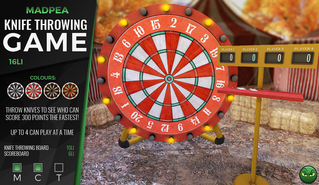 MADPEA'S KNIFE THROWING GAME @ Man Cave *GIVEAWAY*