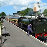 Waiting for departure time at Bodmin General.