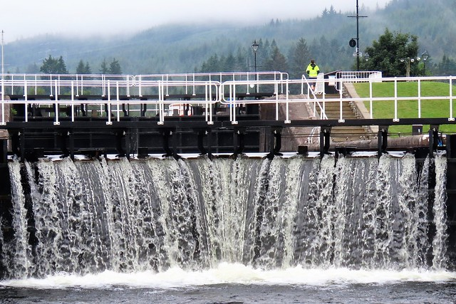 Caledonian Canal Lockgates, At Fort Augustus Scotland