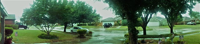 WELCOMED TEXAS RAIN PUDDLES
