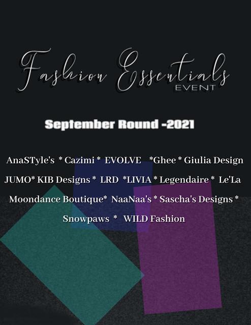 Fashion Essentials Event -September Round -2021