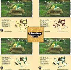 Petit Chat : Picnic Crates @ SL Home & Decor weekly Sale