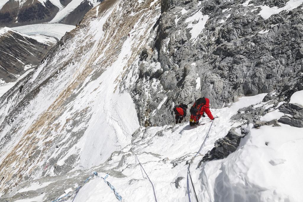 Descending the First Step on Everest/Chomolungma
