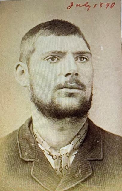 Prison mug shot of Joseph (aka William) Midolo - July 1890