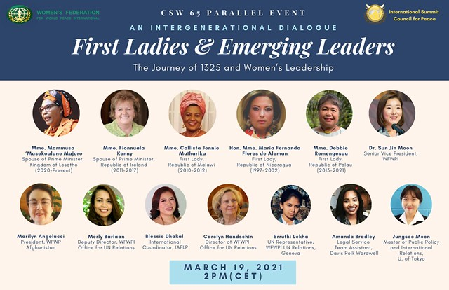 Switzerland-2021-03-19-First Ladies, Future Leaders Meet at CSW65 Parallel Event