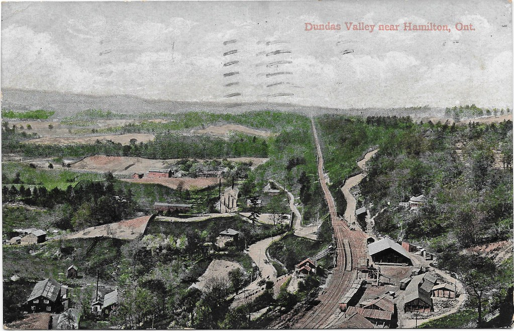 Vintage Postcard of Dundas Valley postmarked 1906