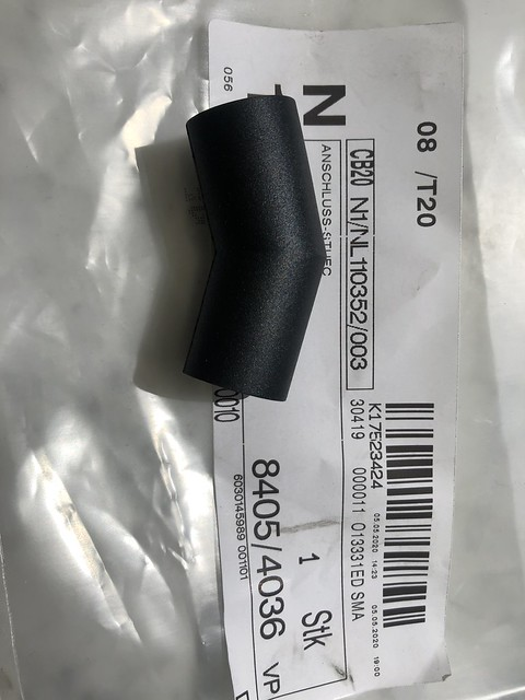 Return oil pipe connector from turbo charger to the engine Smart Fortwo 450 & Roadster 452