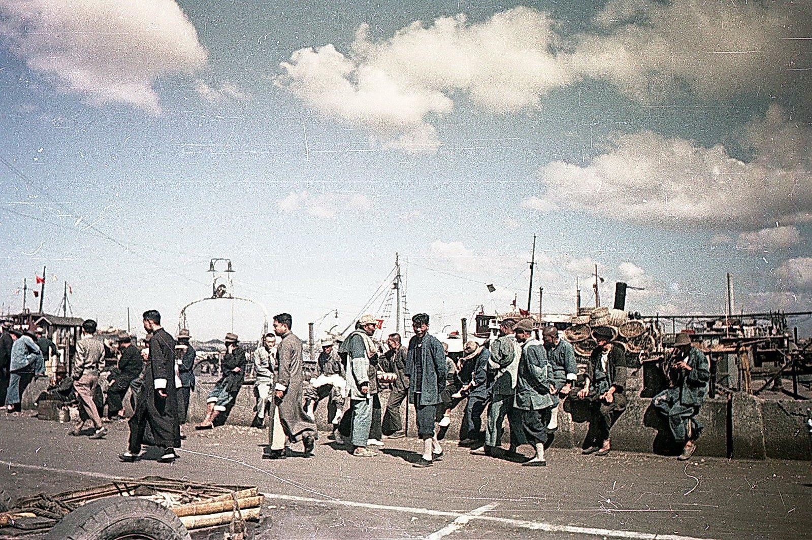 1949. Шанхай. Набережная реки Вампу
