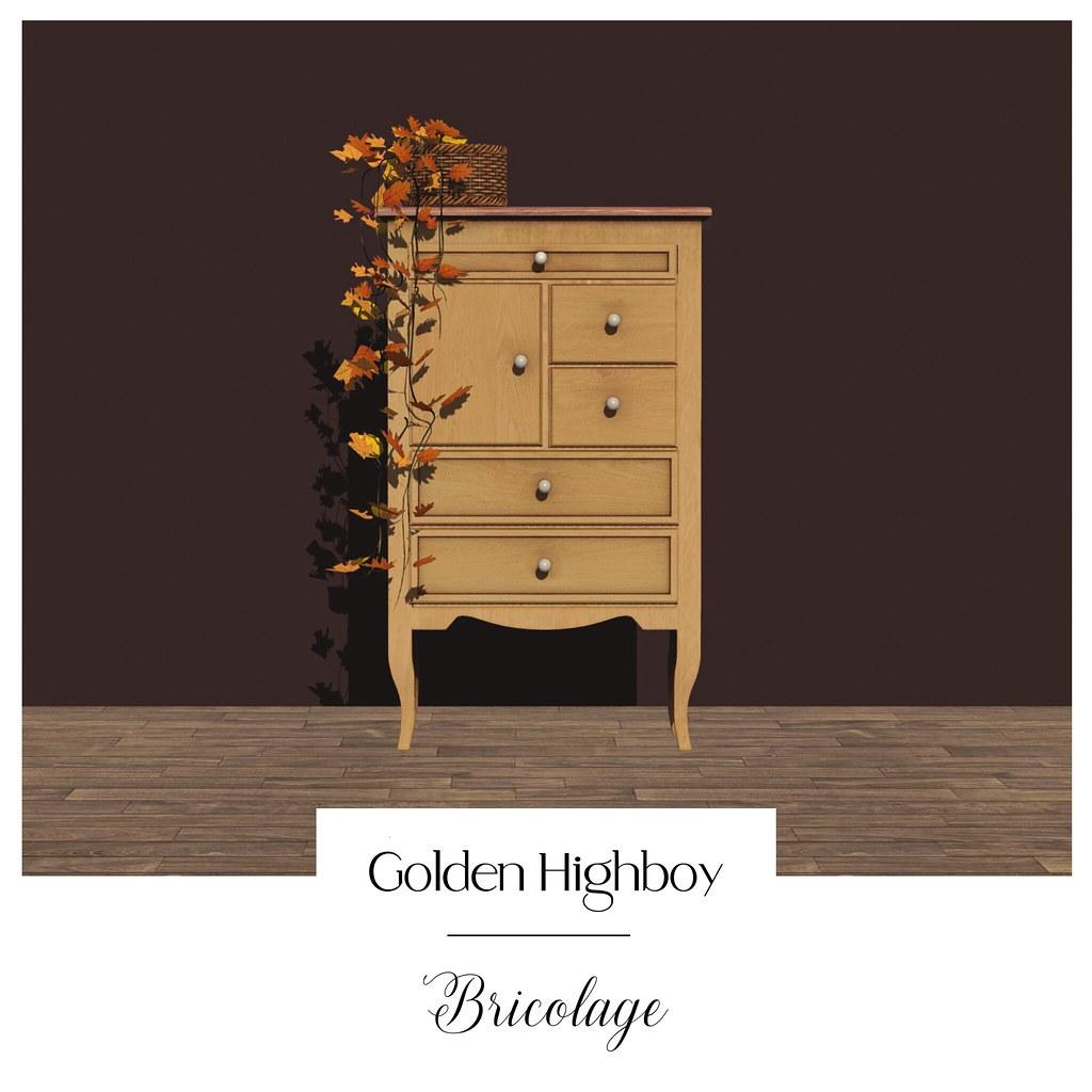 Bricolage Golden Highboy & Fall Leaves Basket